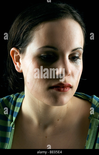 woman crying - Stock Image