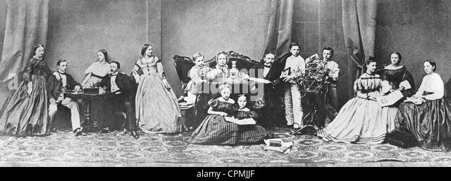 Family, 19th century - Stock-Bilder
