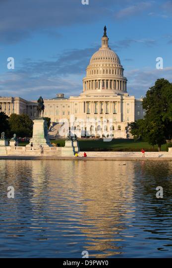 US Capitol Building at sunset, Washington D.C., USA - Stock Image