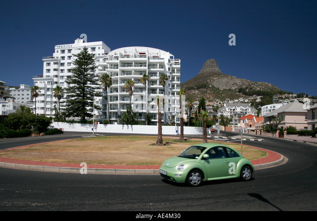 cape town clifton roundabout Hotel Peninsula lions head - Stock Image