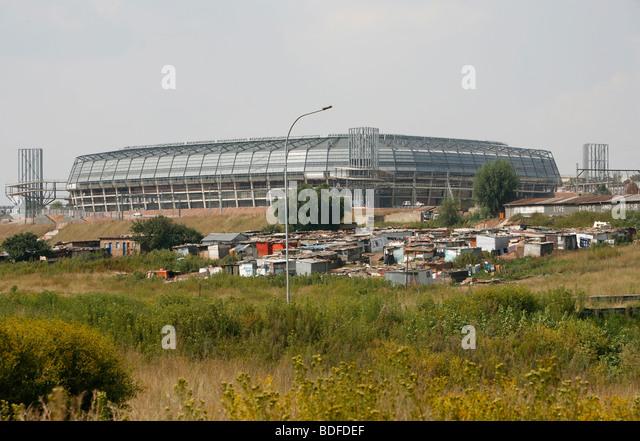 Orlando Football Stadium. Home of the Orlando Pirates football team. Soweto Johannesburg. South Africa. - Stock-Bilder