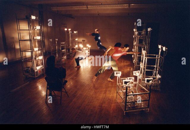 New York, USA. 18th Feb, 2009. FILE: Trisha Brown rehearsing dancers in Soho, New York, in 1992. Ms. Brown, an exemplar - Stock Image