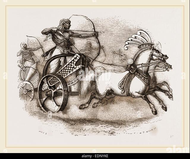 Egyptian War-chariot - Stock Image