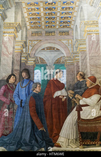 Which N Pope Is In Melozzo Da Forli S Painting