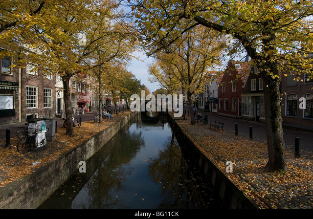 Main canal, Edam, Netherlands, Europe - Stock Image