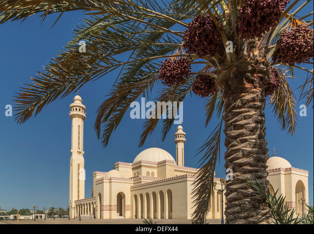 Al Fateh Grand Mosque, Manama, Bahrain, Middle East - Stock Image