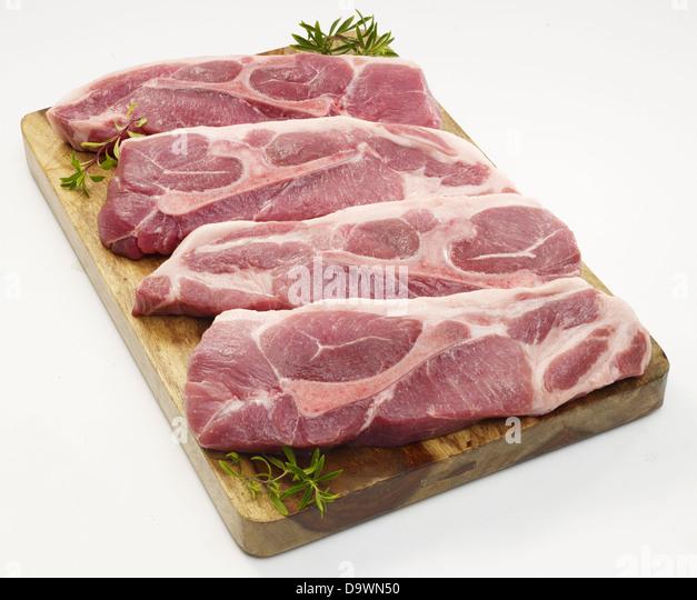 raw pork shoulder bone - Stock Image