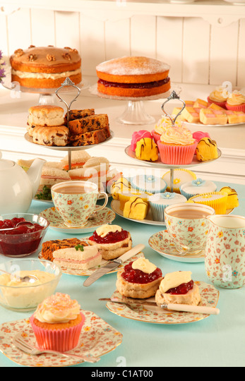 BRITISH AFTERNOON TEA - Stock Image
