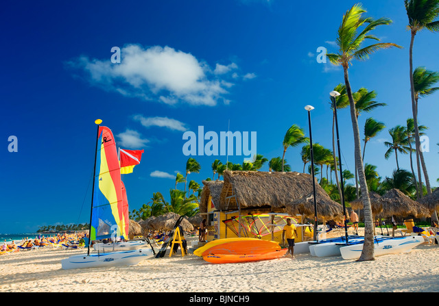 BAVARO BEACH, PUNTA CANA, DOMINICAN REPUBLIC - Stock Image