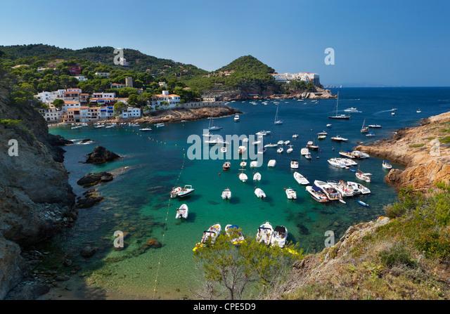 Sa Tuna, near Begur, Costa Brava, Catalonia, Spain, Europe - Stock Image