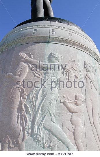Baltimore Maryland Fort McHenry National Monument and Historic Shrine Star Spangled Banner Francis Scott Key pedestal - Stock Image