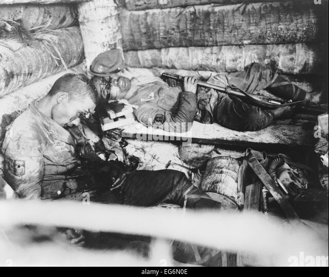 Two Japanese Imperial Marines who shot themselves rather than surrender to U.S. Marines. Nov. 20-23, 1943, Tarawa, - Stock Image