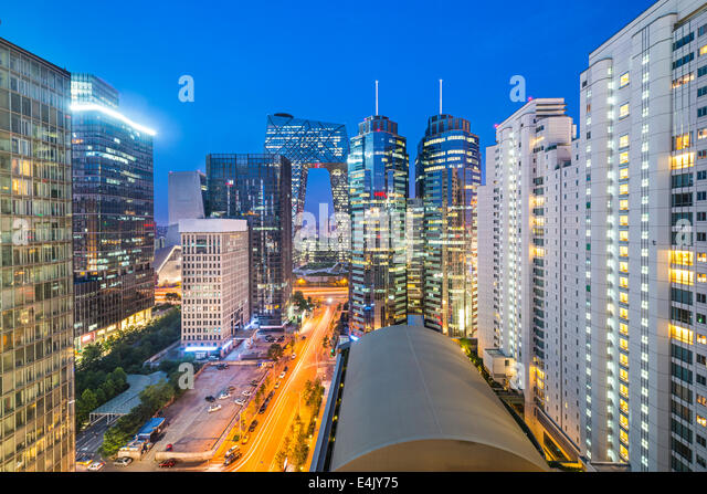 Beijing, China cityscape in the central business district. - Stock-Bilder