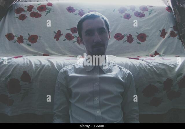 Portrait Of Man At Home - Stock-Bilder