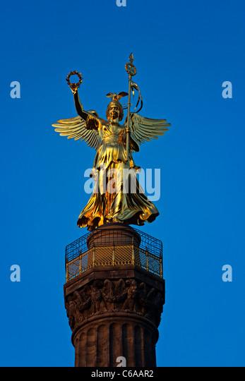 Siegessaeule victory column Berlin - Stock Image
