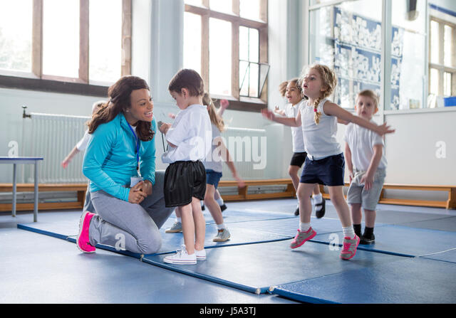 Physical Education Children Teacher Stock Photos ...