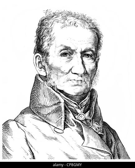 Johann Gottfried Jakob Hermann, 1772 - 1848, a German classical philologist, Historische Zeichnung aus dem 19. Jahrhundert, - Stock Image