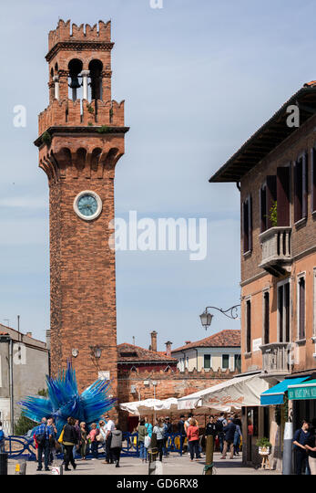 Campo Santo Stefano & Comet Glass Star on Murano island - Stock Image