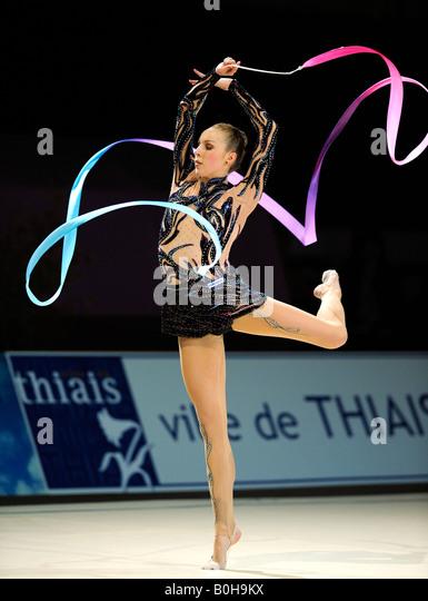 RSG, rhythmic gymnastics, gymnast Inna ZHUKOVA, Belarus, BLR - Stock Image