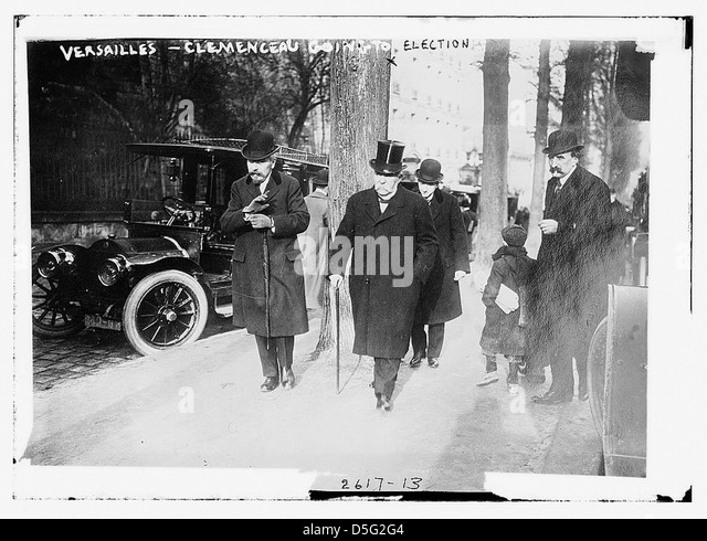 Versailles - Clemenceau going to election (LOC) - Stock Image