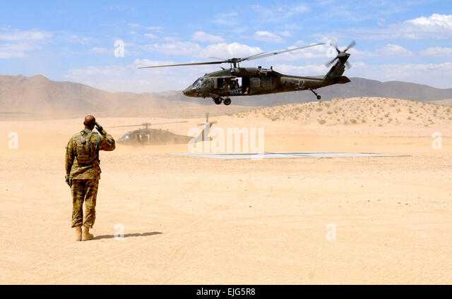 "Cpt. Wayne Griffin, brigade aviation officer for 1st Brigade, 1st Armored Division ""Ready First"" - Stock Image"