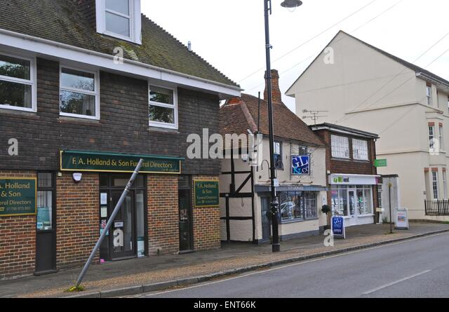 Old and new buildings Lower Street Pulborough - Stock Image