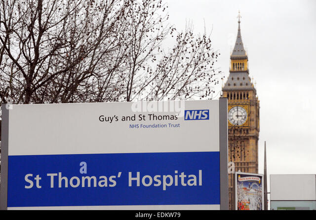 London, UK. 7th December, 2015. NHS under scutiny as hospitals face pressure at A & E's . St Thomas Hospital - Stock Image