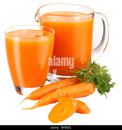 CARROT JUICE - Stock Image