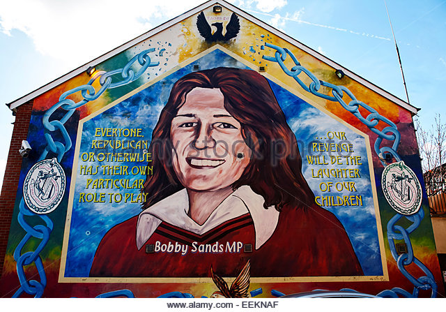 Bobby sands mural stock photos bobby sands mural stock for Bobby sands mural