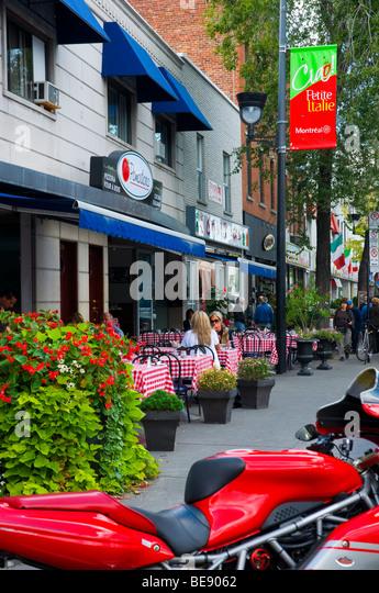 Little Italy on boulevard Saint laurent Montreal Canada - Stock Image