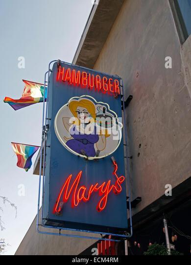 Hamburger Mary's, West Hollywood, Los Angeles, California - Stock Image