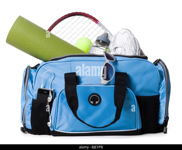 gym bag - Stock Image