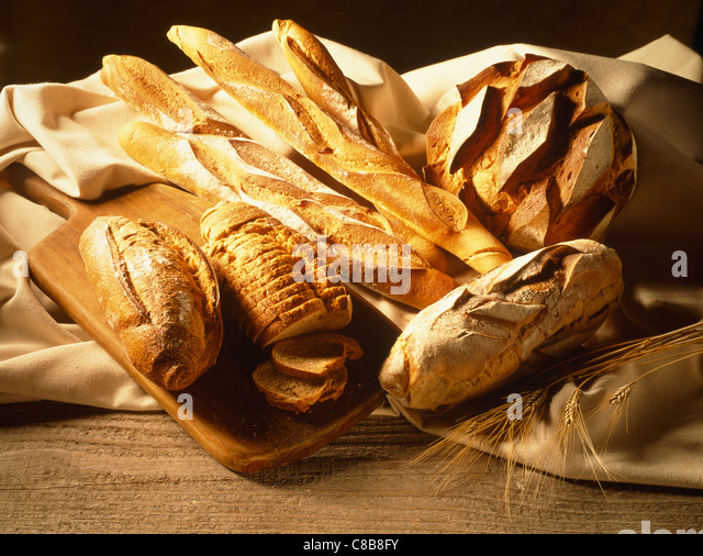 Selection of bread - Stock Image
