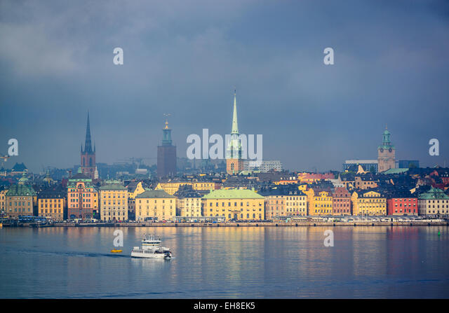 Stockholm, Sweden city skyline. - Stock-Bilder