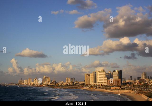 Israel, Tel Aviv coastline - Stock Image
