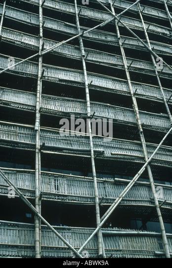 Bamboo scaffolding Shanghai China - Stock-Bilder