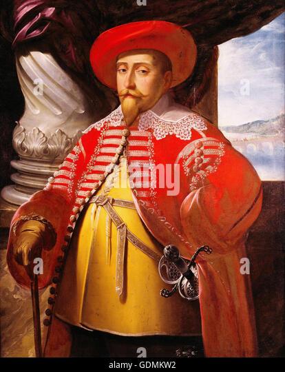 Matthaeus Merian the Elder - Gustavus Adolphus of Sweden (1594-1632) - Stock Image