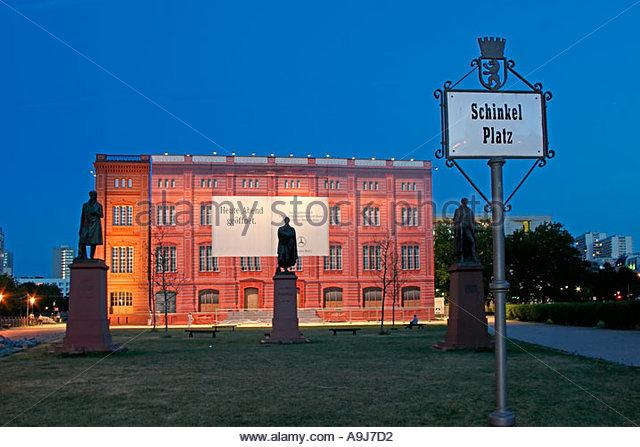Berlin Schinkel Bauakademie show fassade of former construction academie by Schinkel - Stock Image