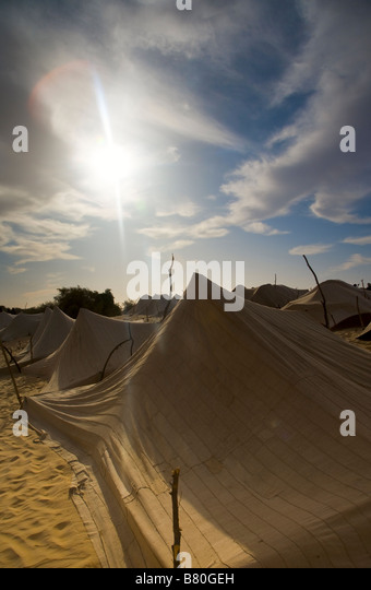 Nomadic desert tents. - Stock Image