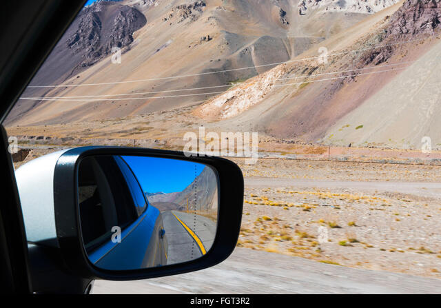 traveling by car, Mendoza, Argentina - Stock-Bilder