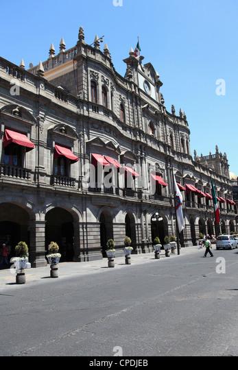 Palacio Municipal, Town Hall, Puebla, Historic Center, UNESCO World Heritage Site, Puebla State, Mexico, North America - Stock-Bilder