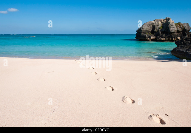 Warwick Long Bay, Jobson's Cove, Bermuda, Central America - Stock Image