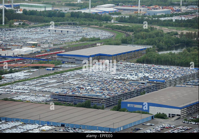 bremerhaven car terminal germany stock photos. Black Bedroom Furniture Sets. Home Design Ideas