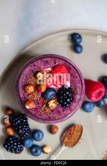 Berry smoothie - Stock Image