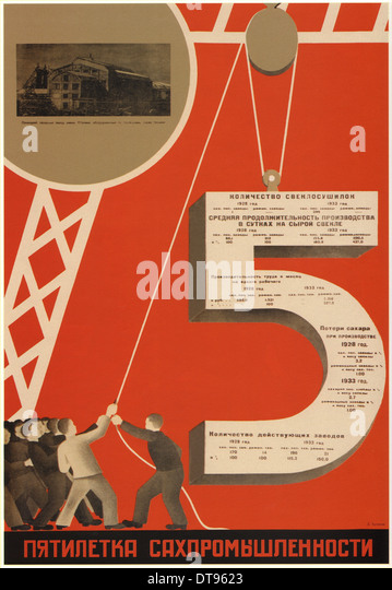The five-year plan of the sugar industry, 1931. Artist: Bulanov, Dmitry Anatolyevich (1898-1942) - Stock-Bilder