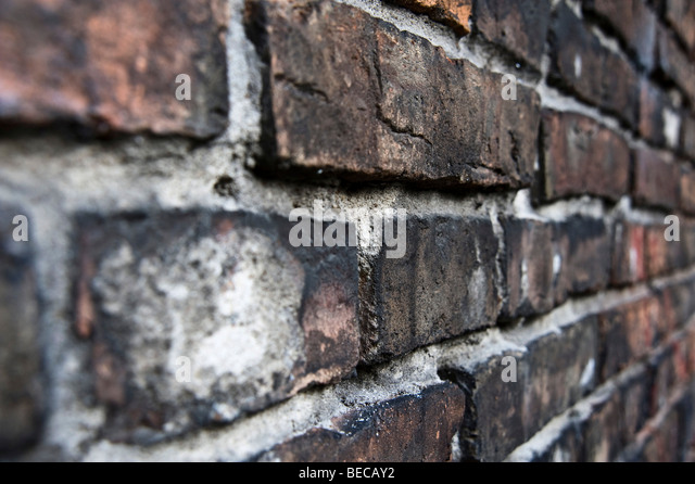 Remains of the wall of the Warsaw Ghetto, Warsaw, Poland, Europe - Stock Image