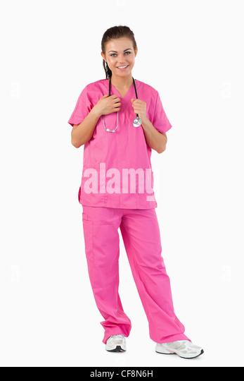 Portrait of a nurse - Stock Image