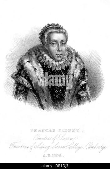 FRANCES SIDNEY SUSSEX - Stock Image