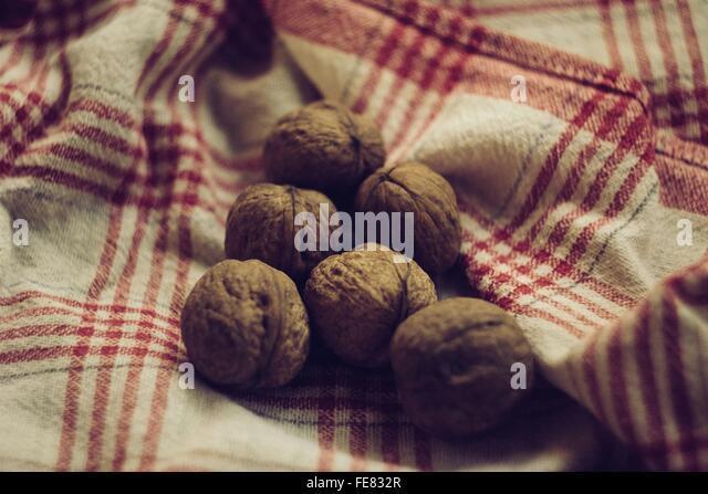 Close-Up Of Walnuts - Stock Image