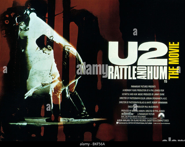 U2 : RATTLE AND HUM (1988) BONO, THE EDGE POSTER U2R 006 - Stock Image